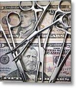 Medical Costs Metal Print by Tek Image
