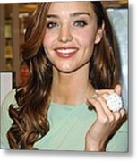 Miranda Kerr At In-store Appearance Metal Print by Everett
