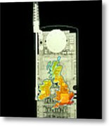 Mobile Phone X-ray Metal Print by D. Roberts