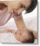 Mother And Baby Metal Print by Ian Boddy
