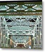 Nashville By Night Bridge 2 Metal Print by Douglas Barnett