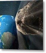 Near-earth Asteroid, Artwork Metal Print by Henning Dalhoff