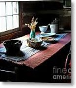 Old Cabin Table Metal Print by Julie Dant