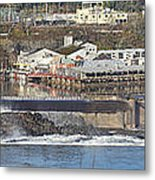 Old Industrial Complex Panorama Oregon City Or. Metal Print by Gino Rigucci