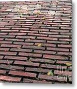Old Red Brick Road Metal Print by Yali Shi