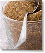 Organic Raw Cane Sugar Metal Print by Frank Tschakert