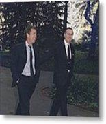 President George H.w. Bush Walks Metal Print by Everett