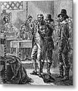 Puritan Punishment Metal Print by Granger