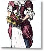 Quaker Woman 17th Century Metal Print by Granger