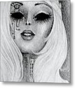 Queen Machina Metal Print by Melissa Cabigao