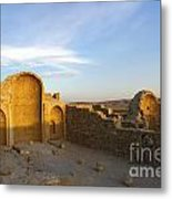 Ruins Of Shivta Byzantine Church Metal Print by Nir Ben-Yosef