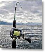 Salmon Fishing Rod Metal Print by Darcy Michaelchuk
