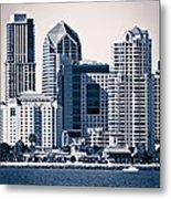 San Diego Skyline Metal Print by Paul Velgos