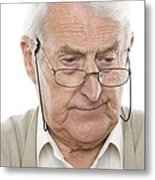 Senior Man Metal Print by