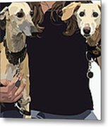 Sighthounds II Metal Print by Kris Hackleman