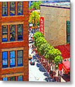 Stockton Street San Francisco . View Towards Union Square Metal Print by Wingsdomain Art and Photography