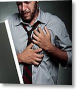 Stress-related Heart Attack Metal Print by Mauro Fermariello