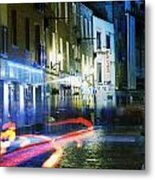 Temple Bar, Dublin, Co Dublin, Ireland Metal Print by The Irish Image Collection