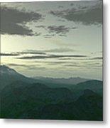 Terragen Render Of Mt. St. Helens Metal Print by Rhys Taylor