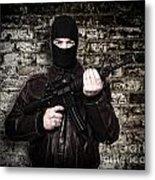 Terrorist Portrait Metal Print by Gualtiero Boffi