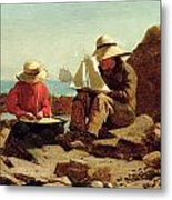The Boat Builders Metal Print by Winslow Homer