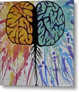The Brain Metal Print by Holly Hunt