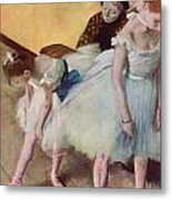 The Dancing Class Metal Print by Edgar Degas