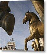 The Horses On The Basilica San Marcos Metal Print by Jim Richardson