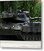 The Leopard 1a5 Mbt Of The Belgian Army Metal Print by Luc De Jaeger