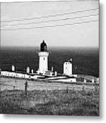 The Lighthouse At Dunnet Head Most Northerly Point Of Mainland Britain Scotland  Metal Print by Joe Fox