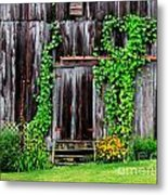 The Old Shed Metal Print by Perry Webster