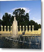 The Pacific Pavilion And Pillars Metal Print by Richard Nowitz