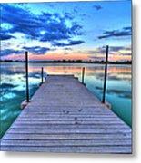 Tranquil Dock Metal Print by Scott Mahon
