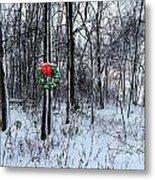 Tyra's Woods At Christmas Metal Print by Julie Dant
