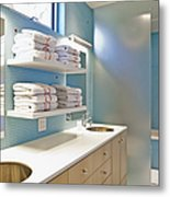 Upscale Bathroom Interior Metal Print by Inti St. Clair