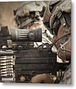 U.s. Army Rangers In Afghanistan Combat Metal Print by Tom Weber