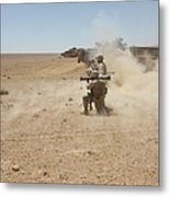 U.s. Marines Fire Several Metal Print by Stocktrek Images