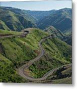 Usa, Washington, Asotin County, Mountain Road Metal Print by Gary Weathers