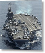 Uss Abraham Lincoln Transits The Indian Metal Print by Stocktrek Images