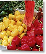 Vegetables At Market Stand Metal Print by Jeremy Woodhouse