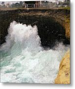 Wave Power Metal Print by Ron Regalado