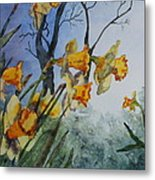 Welcome Springtime Metal Print by Patsy Sharpe