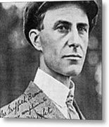 Wilbur Wright, Us Aviation Pioneer Metal Print by Science, Industry & Business Librarynew York Public Library