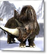 Woolly Rhinoceros Metal Print by Christian Darkin