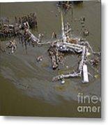 Hurricane Katrina Damage Metal Print by Science Source