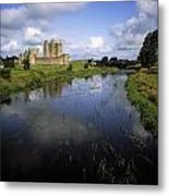 12th Century Trim Castle, On The River Metal Print by The Irish Image Collection