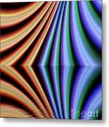 Fractal Reflection Metal Print by Odon Czintos