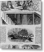 1869 Illustration Show Ex-slaves, Now Metal Print by Everett