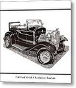 1930 Ford Model A Roadster Metal Print by Jack Pumphrey