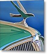 1935 Hudson Touring Sedan Hood Ornament Metal Print by Jill Reger